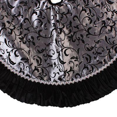 christmas tree skirt idea - Black Christmas Tree Skirt