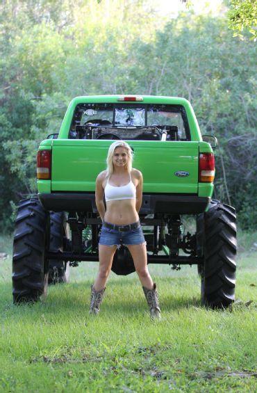 Mud Girl With Ford Ranger Mega Truck Mega Trucks