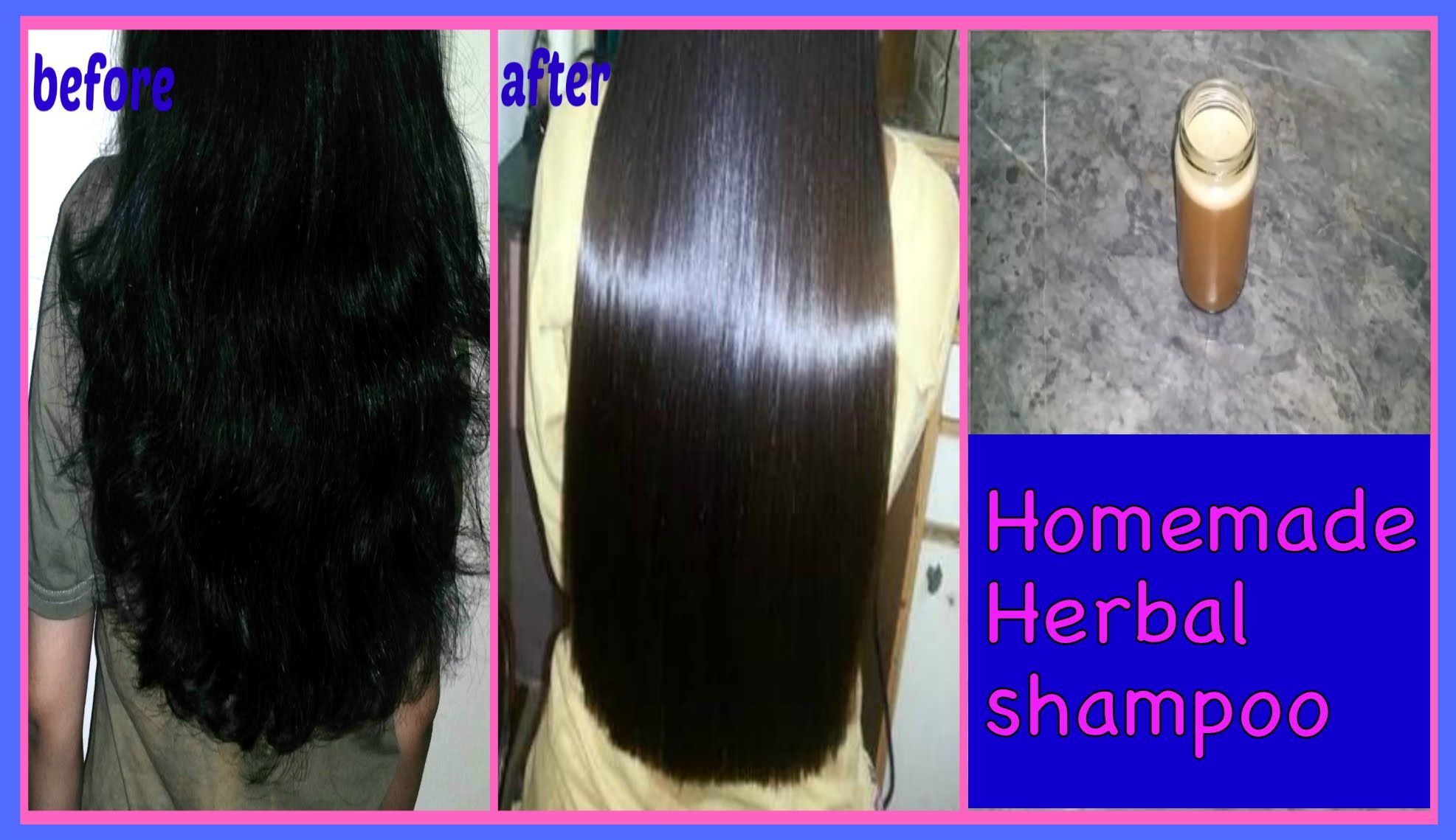 get long shiny voluminous hair diy herbal shampoo haircare