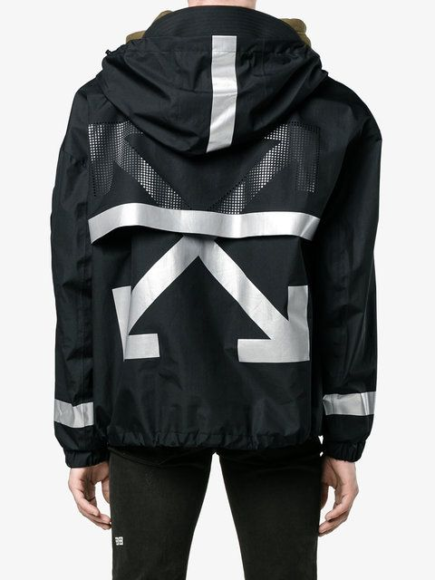 Moncler X Off-White printed parka jacket