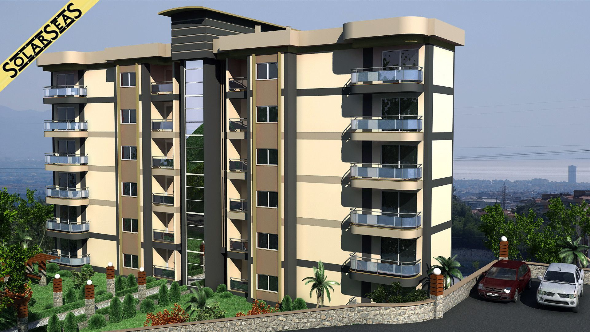 3d Model Modern Apartment Building Exterior 3d Model   Contemporary  Apartment Design Exterior