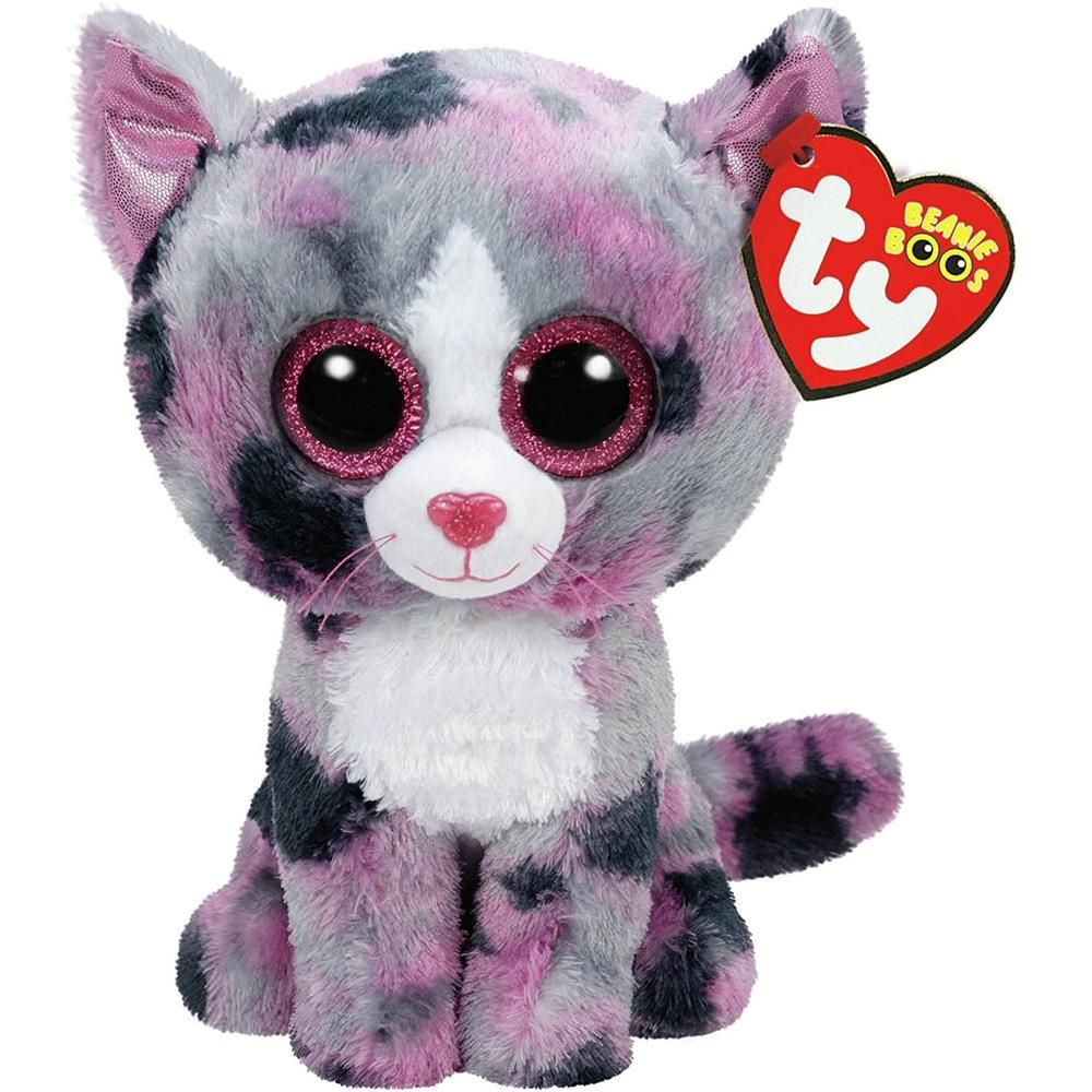 "6/"" TY Beanie Boo/'s Slick the Fox Soft Glitter Eyes With Tag Girl Gift Plush Toys"