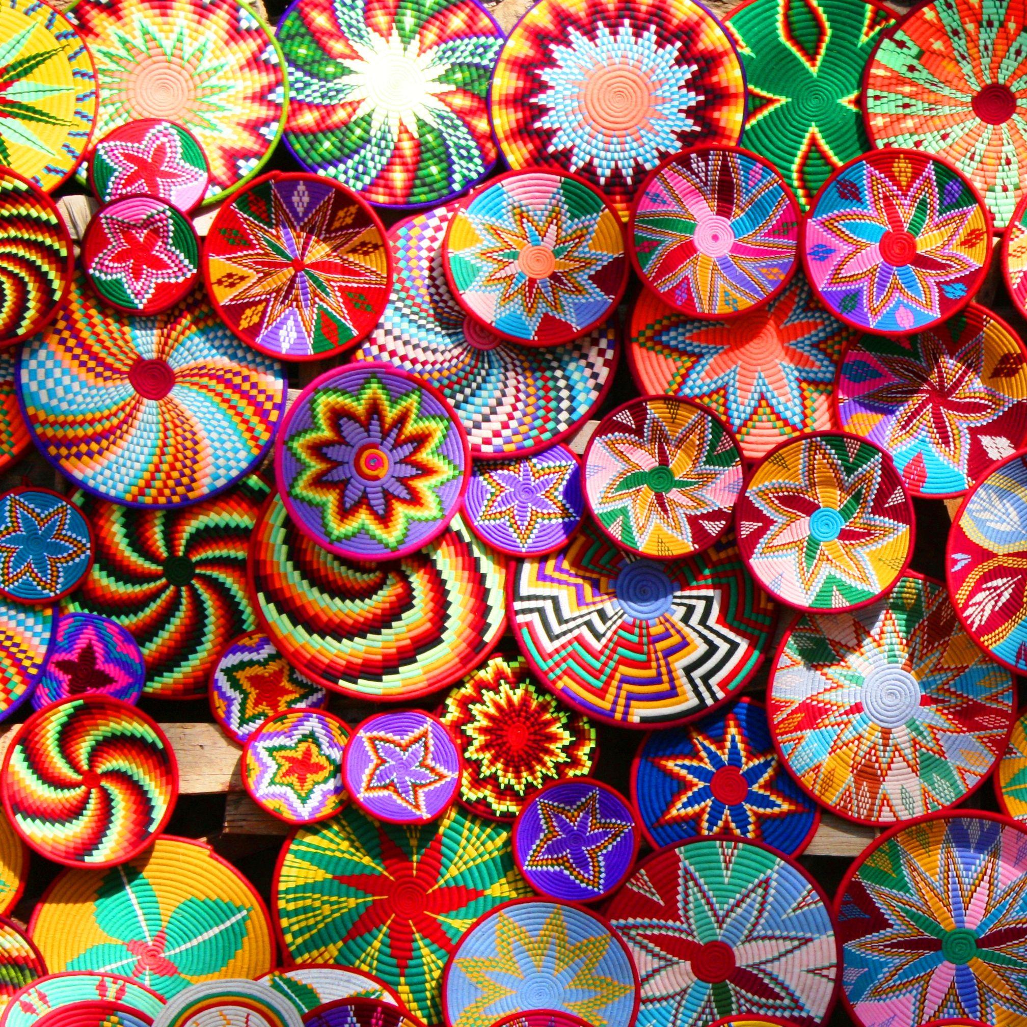 Habesha Baskets Colorful Baskets African Crafts Color