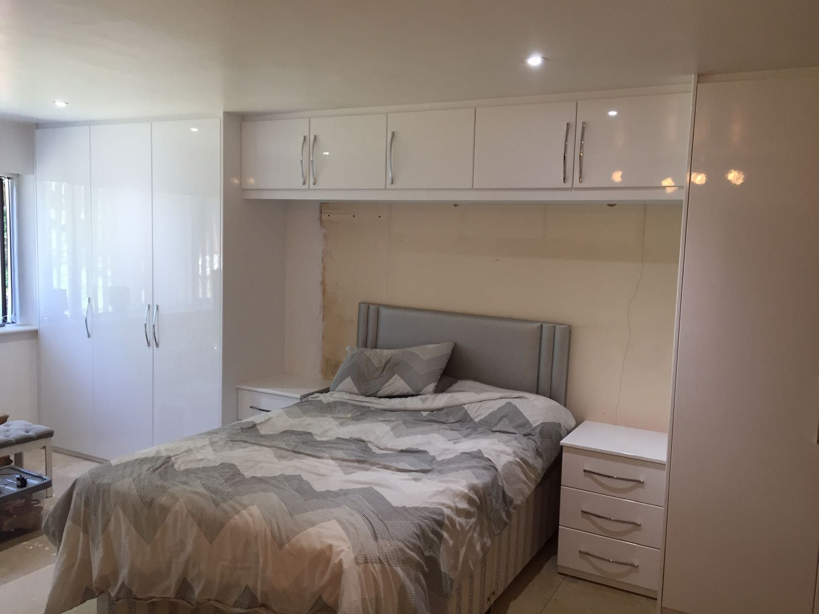 You Really Can Create So Much Space With Storage Over Your Bed Triple Wardrobe Matching Wardrobe Design Bedroom Design Your Bedroom Fitted Bedroom Furniture