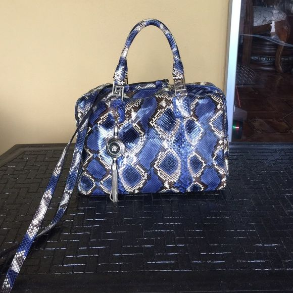 9ab1d6a581a8 Versace structured snake-effect leather tote! It comes in its white cover  pouch and prove of originality card. It sell in net-a-porter for Versace  Bags ...