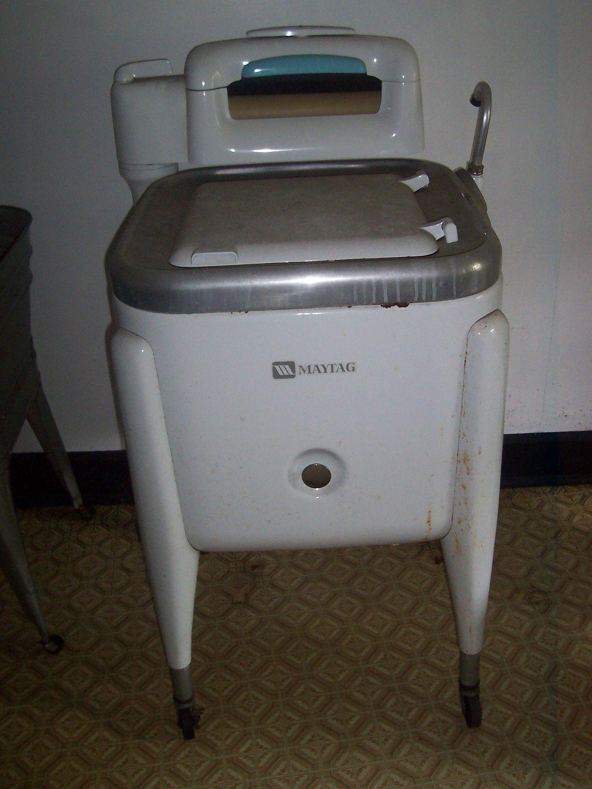 Vintage Maytag Wringer Washing Machine Working Ebay Vintage Washing Machine Washing Machine Vintage Appliances