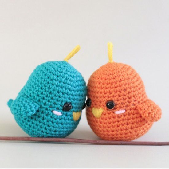 Amigurumi For Beginners : Quick and easy crochet amigurumi lovebirds perfect