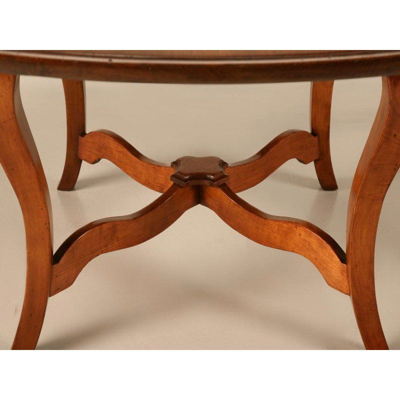 Vintage English Hand Crafted Solid Cherry Dining Table For Sale In Chicago Image 6 Of 11 Dining Table Table Dining