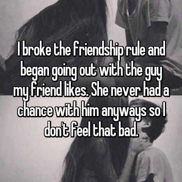 Crush dating my friend