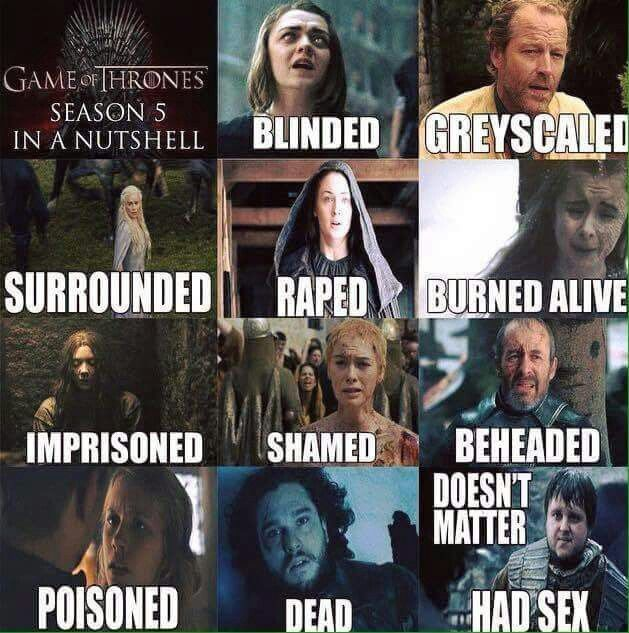GOT Season 5 in a nutshell