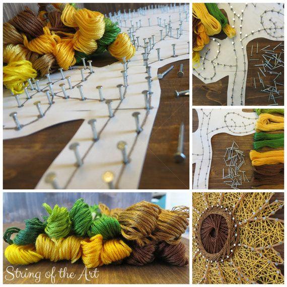 sunflower string art kit diy kit crafts for adults diy gift