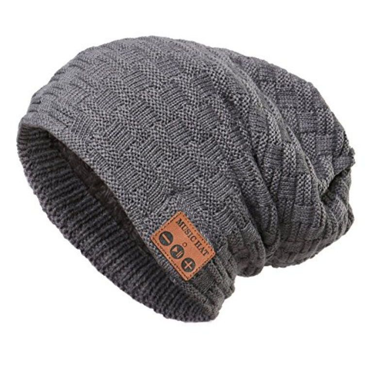 18 99 wireless bluetooth beanie hat unisex outdoor sport knit hat with rechargeable detachable stereo speakers microphone unique christmas tech gifts