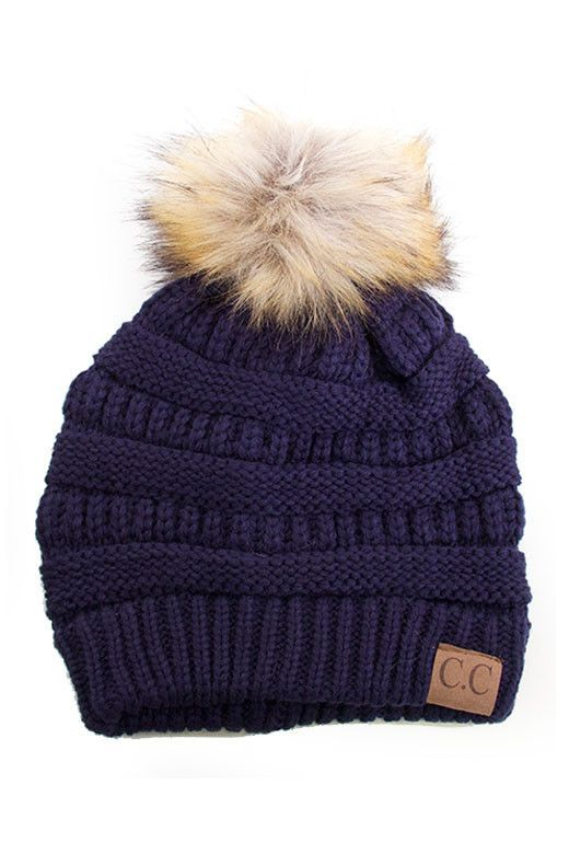 Our Best Selling beanie is BACK!!! The must have beanie of the season!!  Knit hat with faux fur pom pom. - Imported - FREE SHIPPING e30cbb883db