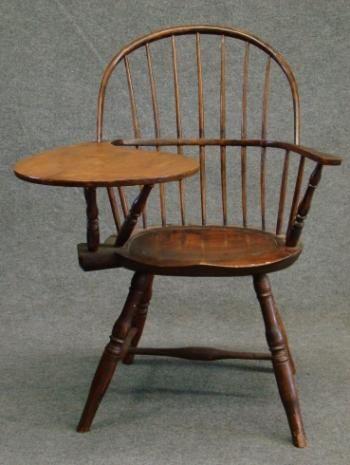 circa 1800 Writing Arm Bow-Back Windsor Chair