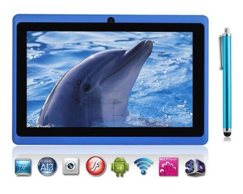 7″ inch Capacitive Touch Screen Allwinner A13 1.0GHz CPU (up to 1.5GHz maximumly)Processor Android 4.0.3 (Latest Ice Cream Sandwich OS) Tablet PC 4GB HDD 512MB WiFi MID Epad Flash Player 11.1 – Compatible with BBC iPlayer / Youtube / Facebook (Blue) by Dx-mall