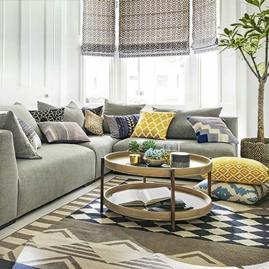 Mix match for kitchen cushions   Grey sofa living room ...