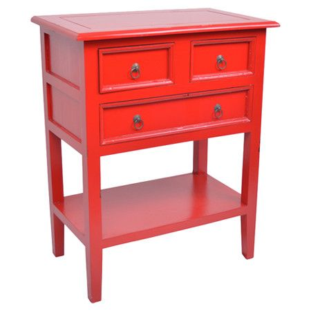 Minimalist Pairing timeless style with vibrant appeal this paneled side table offers 3 drawers and an Review - Beautiful side table with drawer New