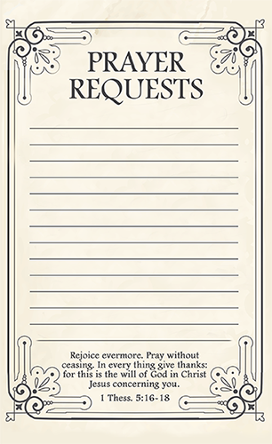 Free Printable Prayer Request Forms  Prayer Card Template Free