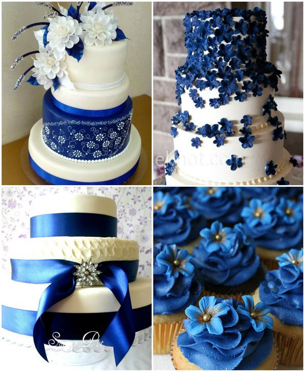 Royal Blue Wedding Cake Ideas