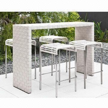 Elegant Outdoor High Bar Tables