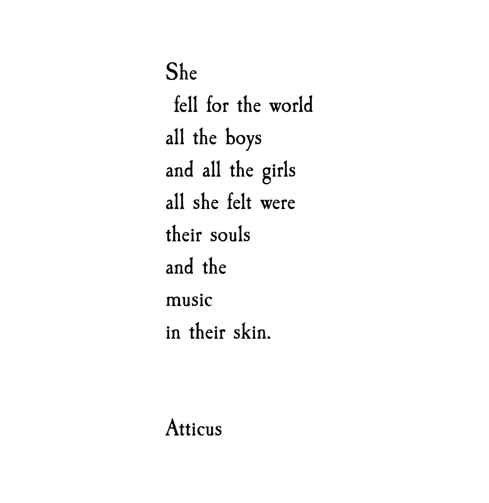 She Fell atticuspoetry atticus poetry loveh…