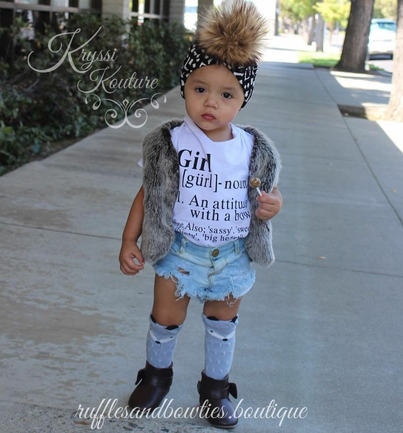 Pre Order US ONLY Baby Girl Clothes Sassy Girl Shirt Noun