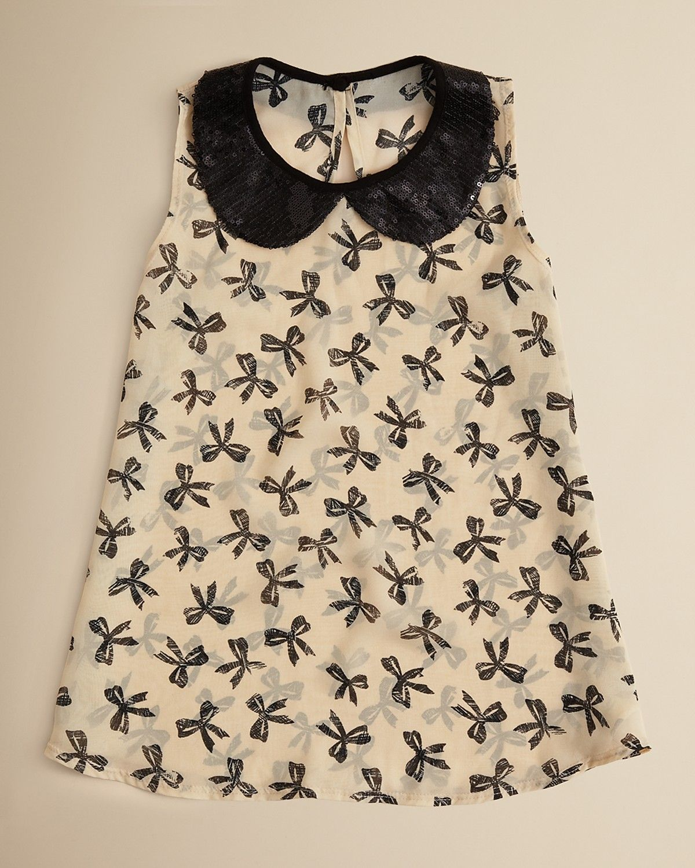 bf56fbfddbc Aqua Girls' Bow Print Sleeveless Top - Sizes S-XL | Bloomingdale's ...