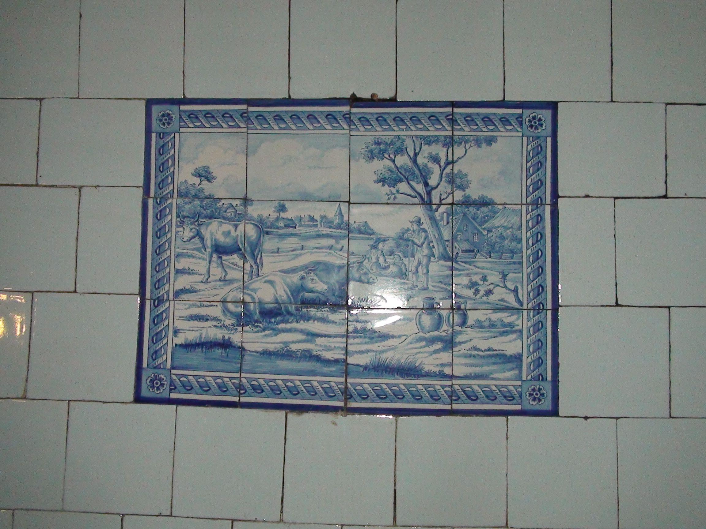Tegel Delfts Blauw : Delfts blauw tegel tableau tegels van toen witjes