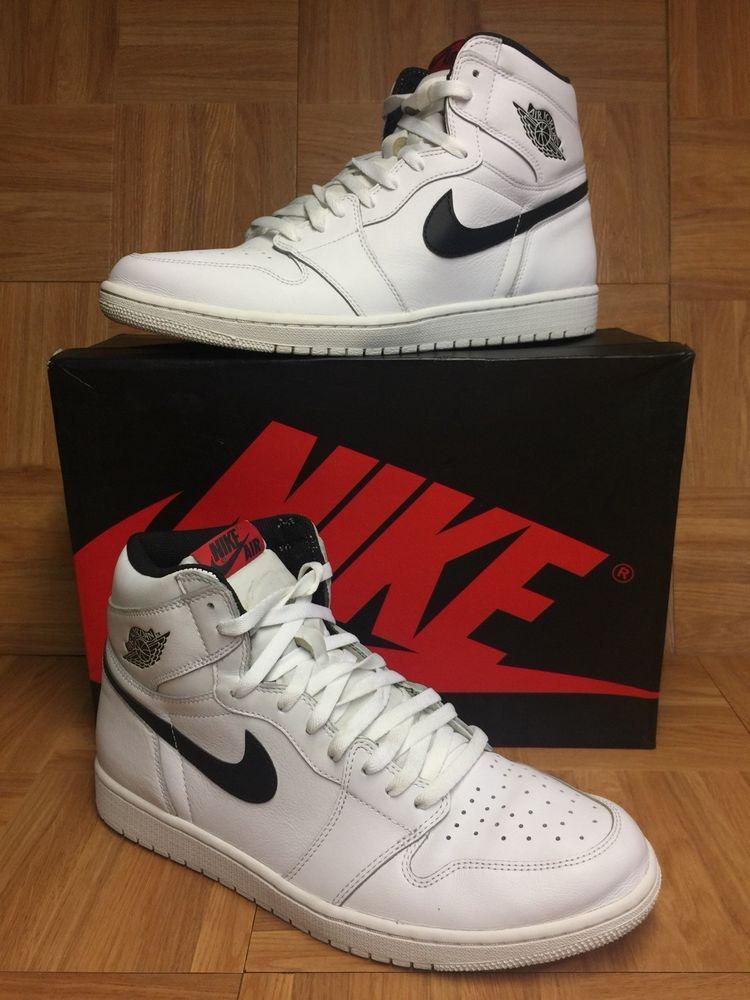 19f44de34124 RARE🔥 Nike Air Jordan 1 High OG Ying Yang White Black Sz 13 555088-102  Men s