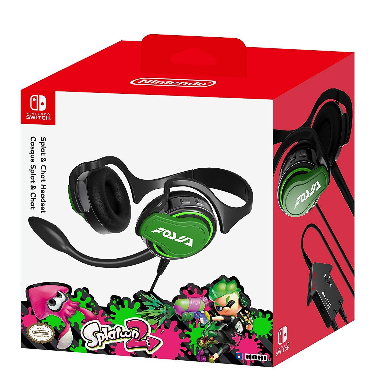Micro Casque Splatoon 2 Splat Chat Pour Nintendo Switch Casque Splatoon Nintendo Switch