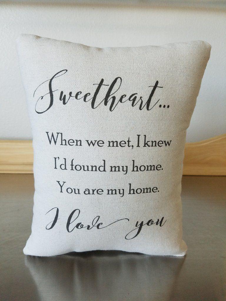 Spouse Gift Pillow Cotton Throw Pillow Anniversary Gift Home Decor Girlfriend Anniversary Gifts Anniversary Gifts Boyfriend Anniversary Gifts