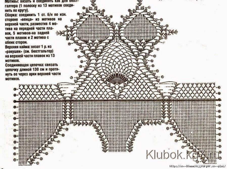 ac1a36c854072 Traje de baño al crochet - con patrones
