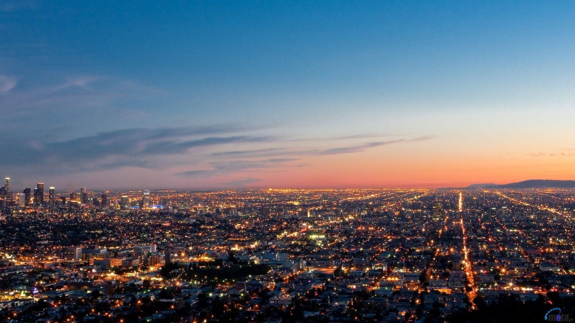 Los Angeles Desktop Wallpaper In 2020 Los Angeles Landscape Los Angeles Wallpaper Landscape