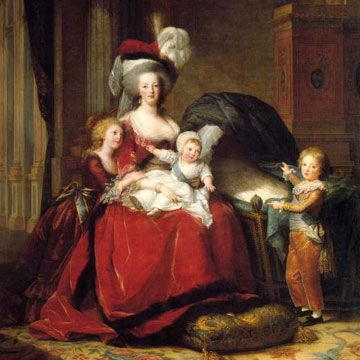 Marie Antoinette with her children before the Revolution