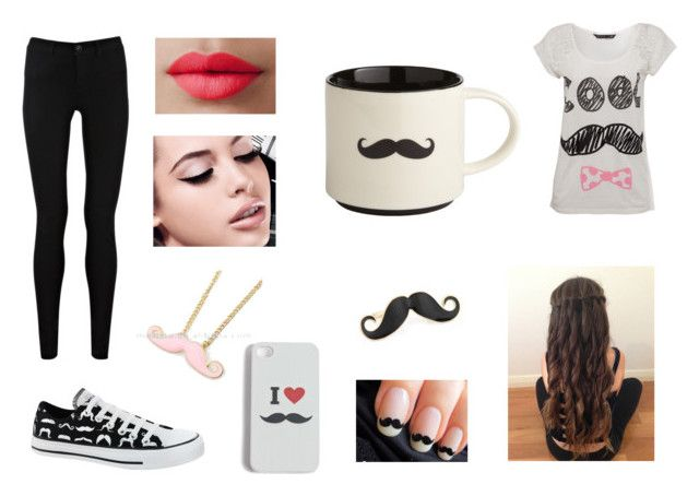 """""""Sem título #37"""" by anachase123 on Polyvore featuring moda, Miso, Oasis, Converse, Echo, Maybelline, LORAC e Pier 1 Imports"""