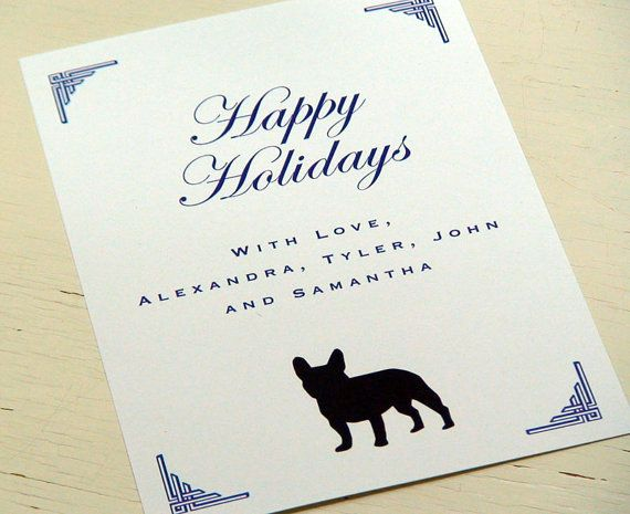 Happy holidays personalized french bulldog stationery flat holiday happy holidays personalized french bulldog stationery flat holiday greeting cards happy hanukkah notecards m4hsunfo
