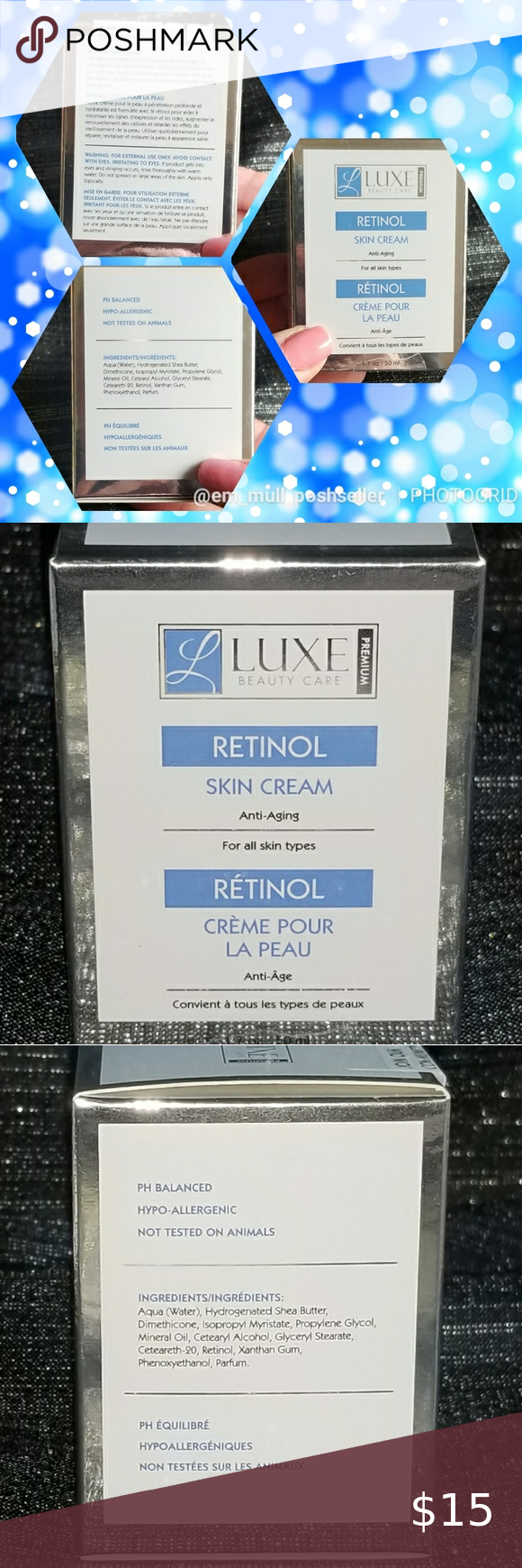 Luxe Global Beauty Care Retinol Skin Cream In 2020 Skin Cream Beauty Care Skin Cream Anti Aging