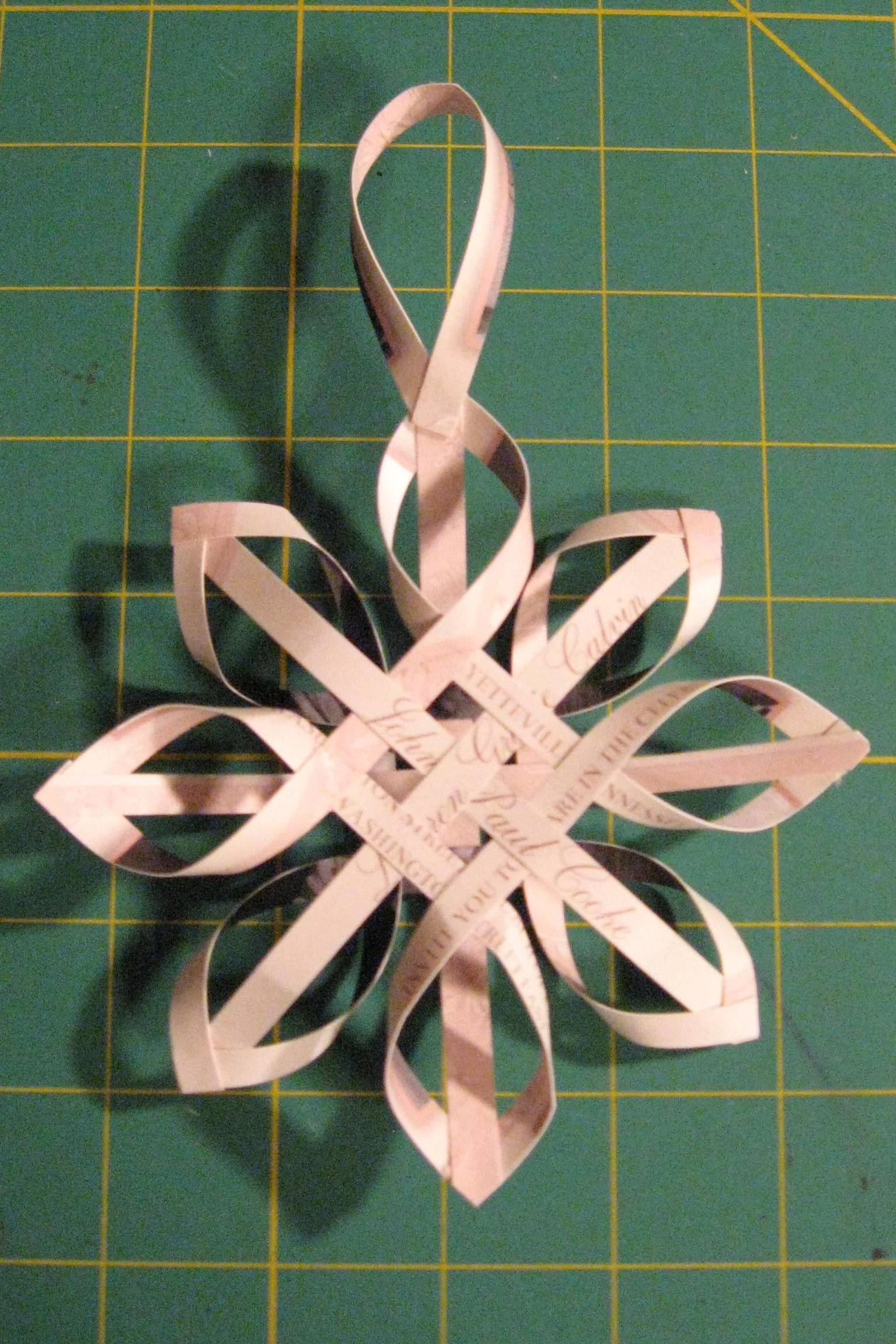 First Christmas To her Ornament made from strips of wedding