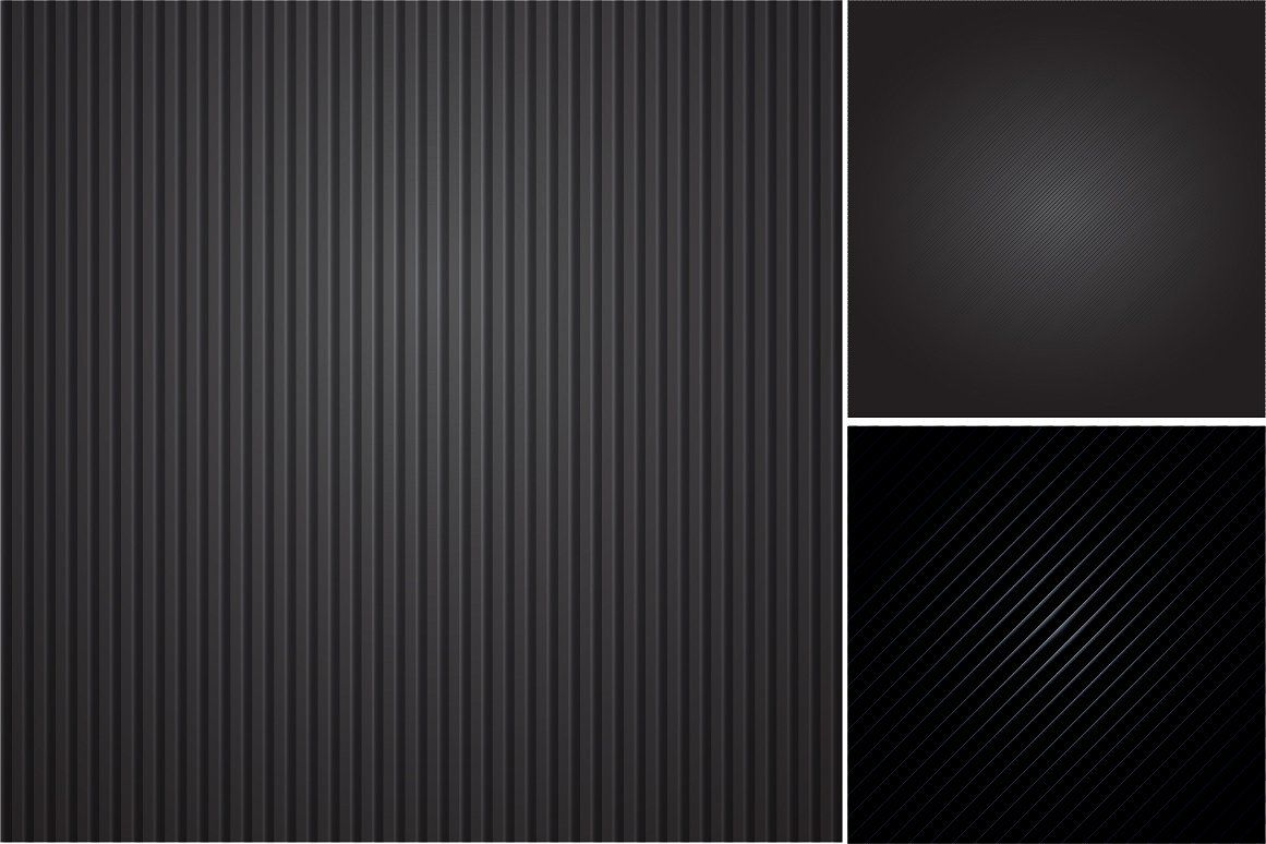 Colleciton of black striped textures backgrounds