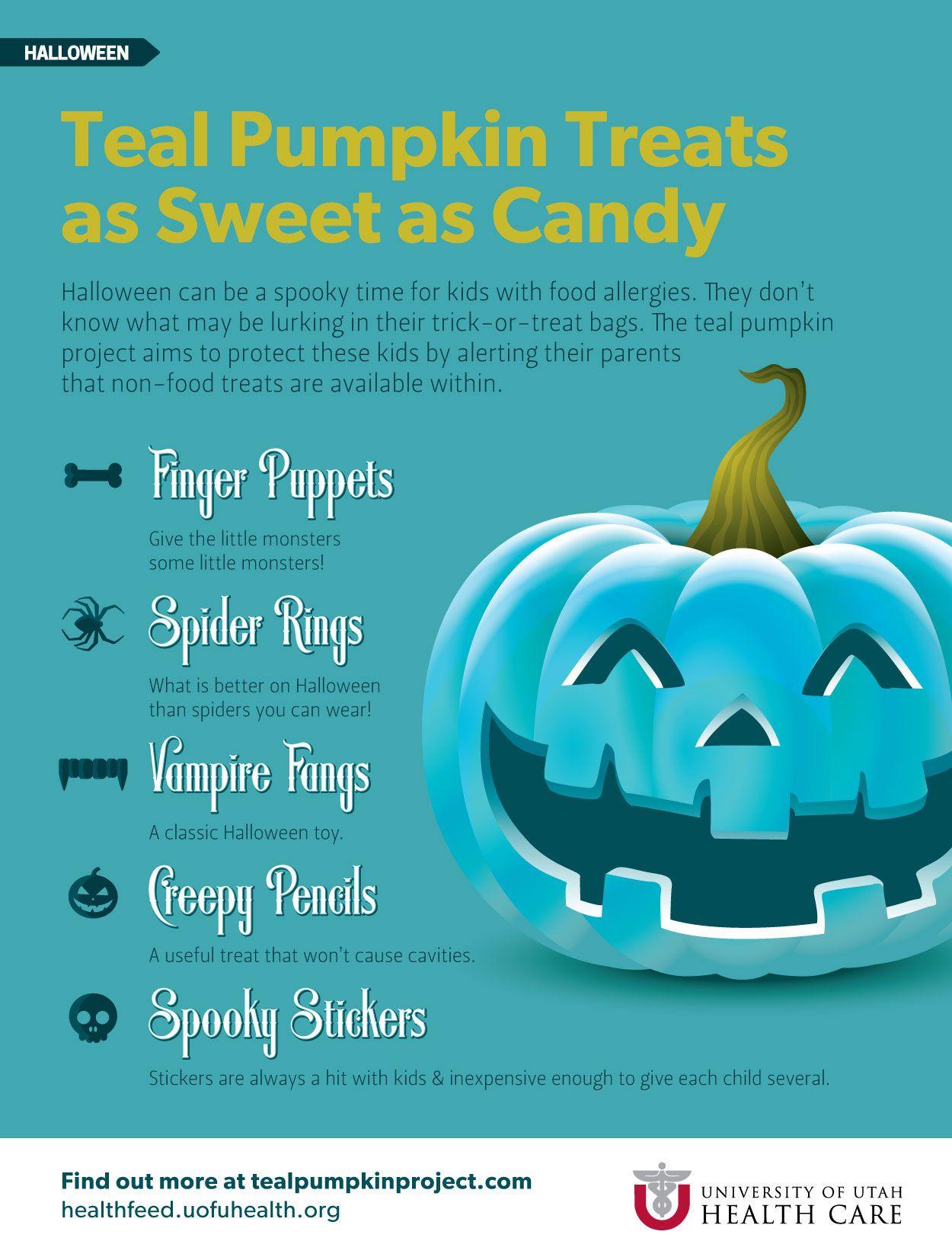 Teal for Treats foodallergies kids halloween trickortreat