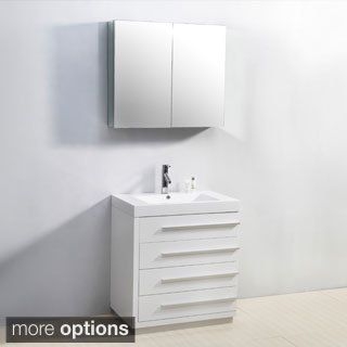 For Virtu Usa Bailey 30 Inch Single Sink Bathroom Vanity Set Get