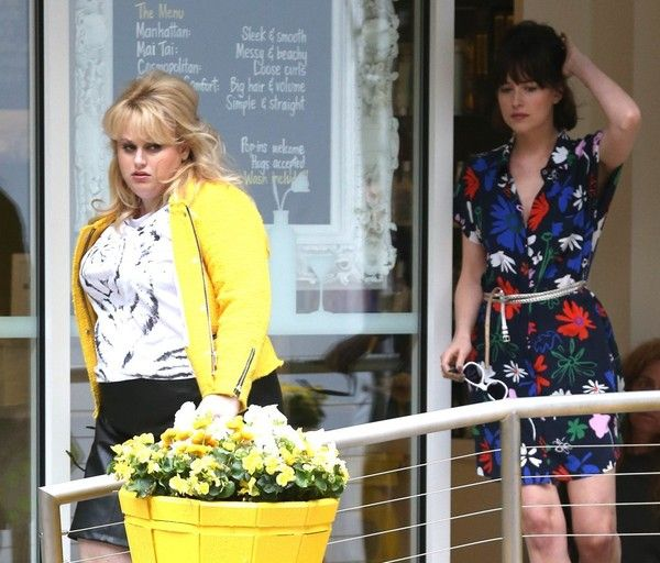 Dakota johnson photos photos stars on the set of how to be single dakota johnson photos photos actresses rebel wilson and dakota johnson are spotted filming scenes for their new movie how to be single in new york city ccuart Gallery