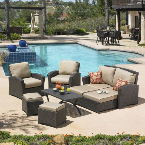 Santa Fe 6 Piece Patio Deep Seating Set By Mission Hills®. Furniture ...