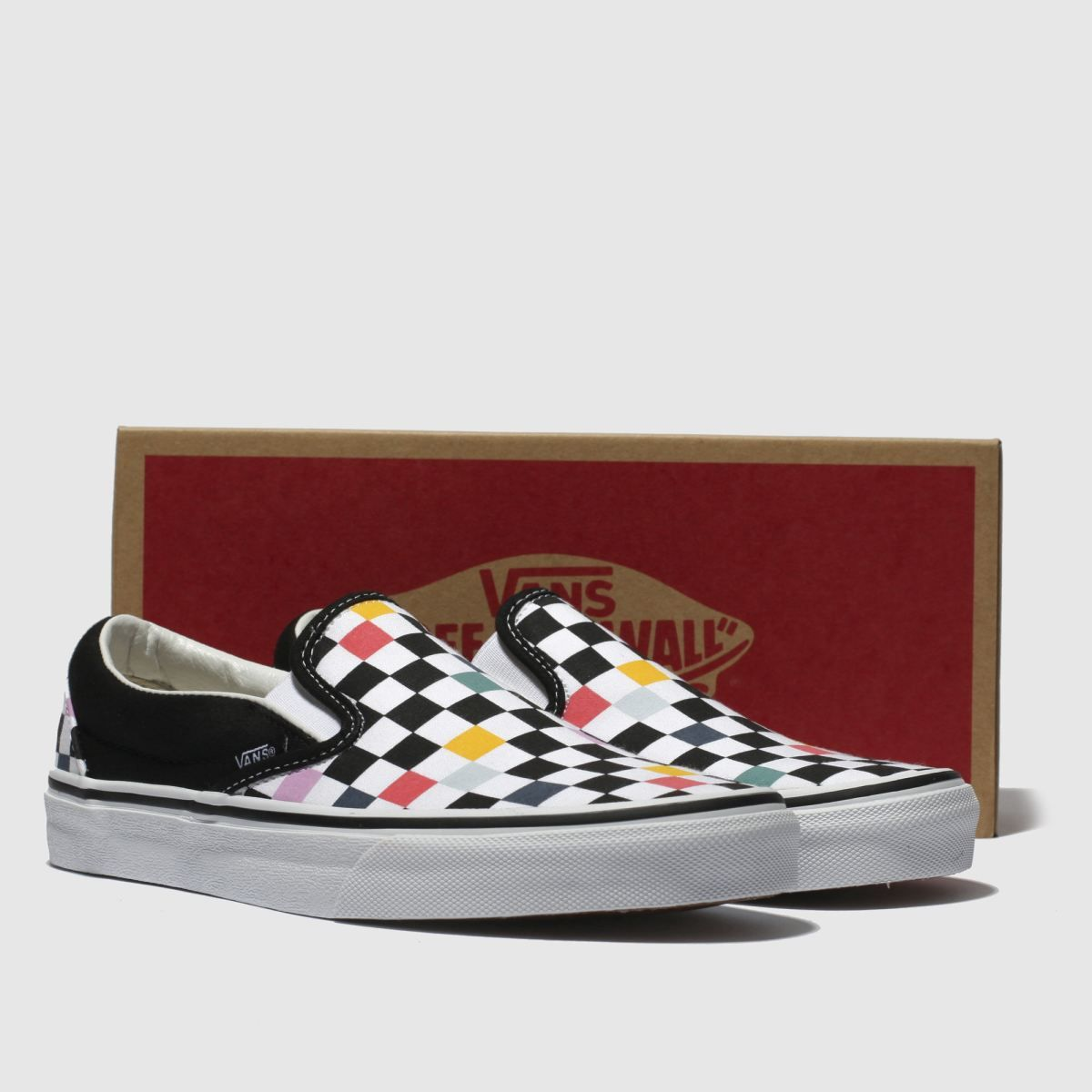 4a4cb41e8e vans black   multi-coloured classic slip-on trainers