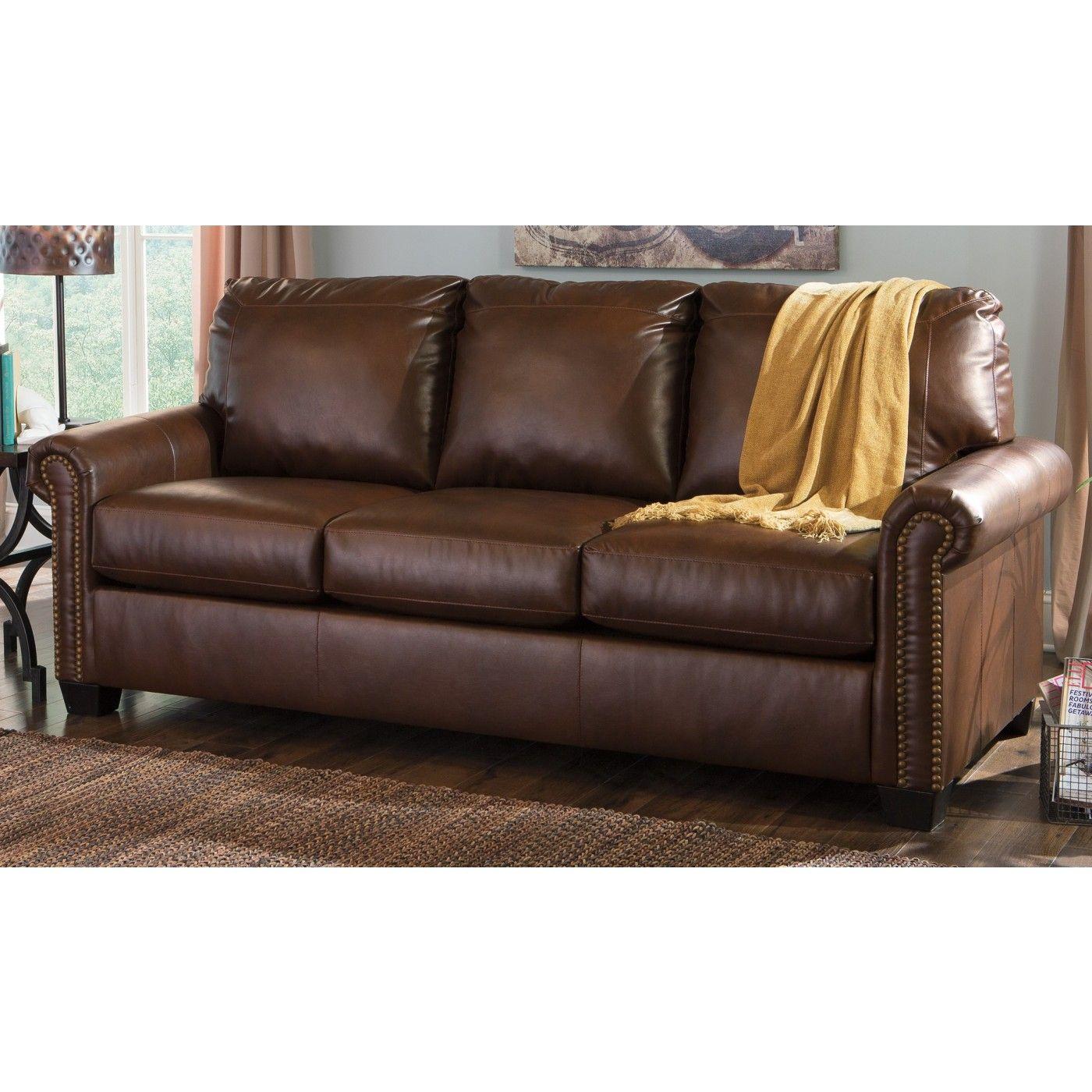 Lottie Durablend Chocolate Queen Sleeper Sofa