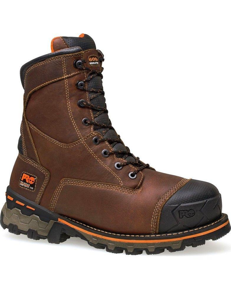 "Timberland Pro Boondock Waterproof 8"" LaceUp Work Boots"