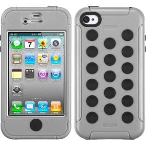 Insten Grey/ Tuff Hybrid Phone Case Cover for Apple iPhone 4/ 4S #1291878
