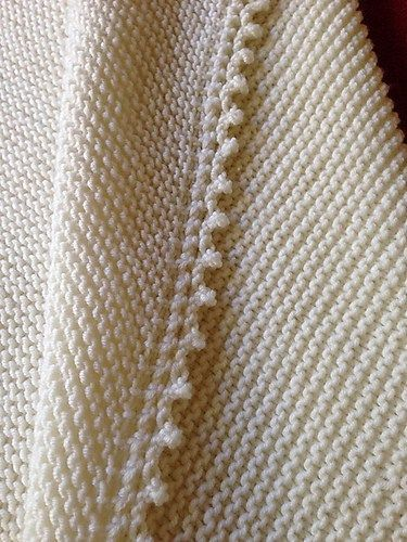 Free knitting pattern for Cambria Baby Blanket - garter stitch forms ...