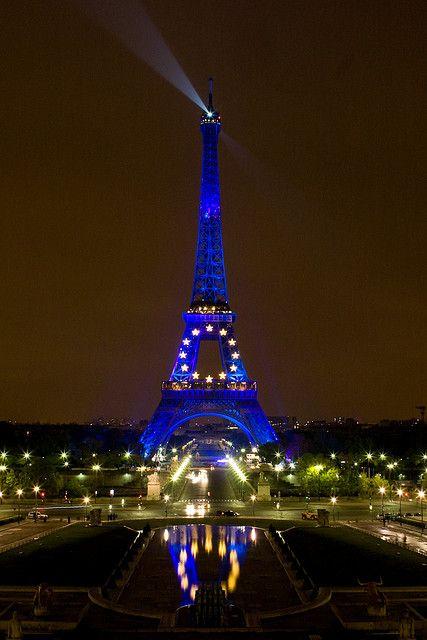 Eiffel Tower by Night Paris France