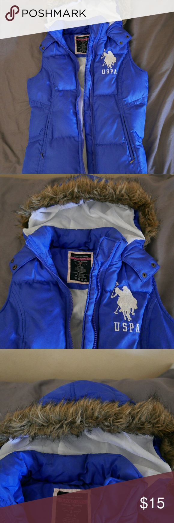 USPA Puffer Vest Puffer vest, Vest, Polo jackets